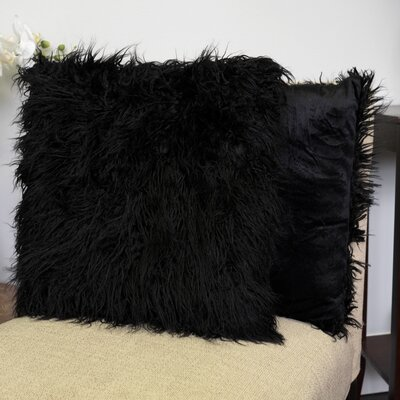Robins Decorative Throw Pillow Color: Black