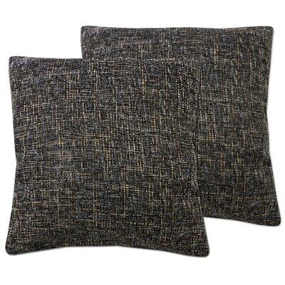 Windham Decorative Cross Stitch Square Throw Pillow Color: Chocolate