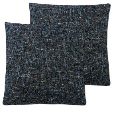 Windham Decorative Cross Stitch Square Throw Pillow Color: Sea Blue