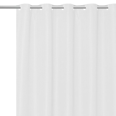 Stamford Polyester Shower Curtain Color: White