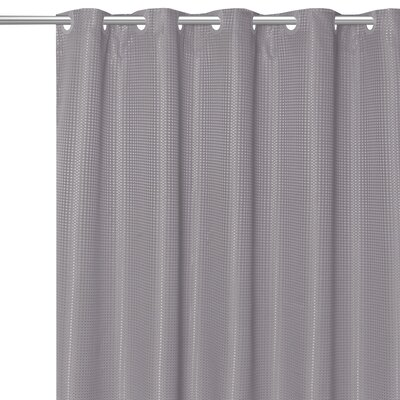 Stamford Polyester Shower Curtain Color: Silver