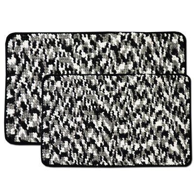 Valliere 2 Piece Bath Rug Set Color: Black