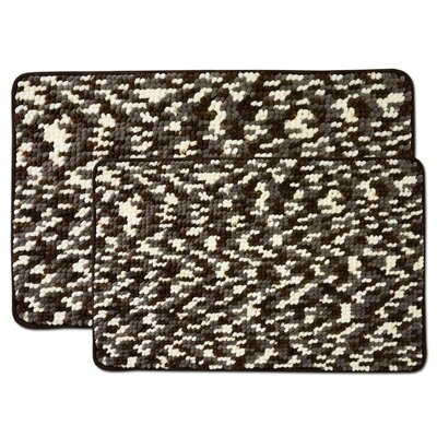 Valliere 2 Piece Bath Rug Set Color: Chocolate