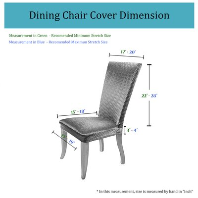 Basket Weave Dining Chair Cover Color: Taupe