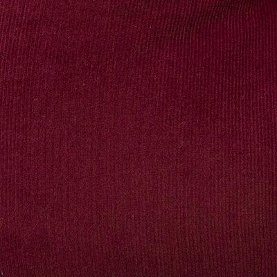 Mini Corduroy Woven Cotton Dining Chair Cushion Fabric: Burgundy