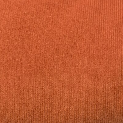 Mini Corduroy Cotton Dining Chair Cushion Fabric: Rust
