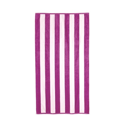 Riviera 4 Pieces Stripe Cotton Beach Towel Color: Magenta