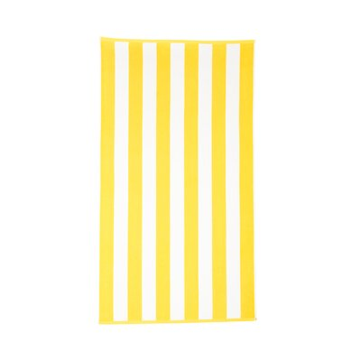 Riviera 4 Pieces Stripe Cotton Beach Towel Color: Lemon