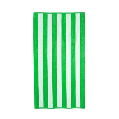 Riviera 4 Pieces Stripe Cotton Beach Towel Color: Lime