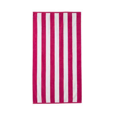Akef Stripe Cotton Beach Towel Color: Fuchsia