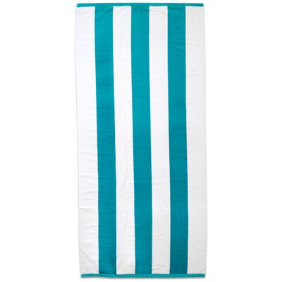 Maloney Stripe 100% Cotton Beach Towel Color: Aqua