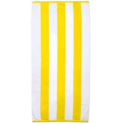 Ventana Stripe Cotton Terry Velour Beach Towel Color: Yellow