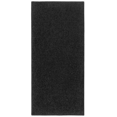 Kasten Plush High Pile Solid Black Area Rug