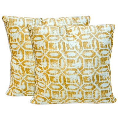 Kawamura Modern Art Deco Print Throw Pillow