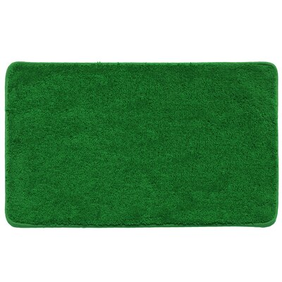 Kasten Plush Pile Solid Bathroom Bath Rug Color: Sage/Hunter