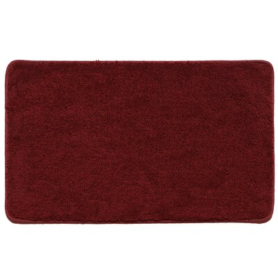 Kasten Plush Pile Solid Bathroom Bath Rug Color: Burgundy