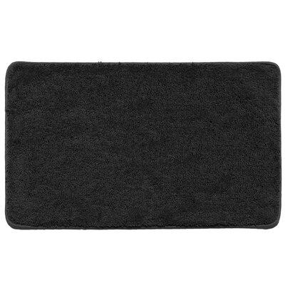 Kasten Plush Pile Solid Bathroom Bath Rug Color: Black