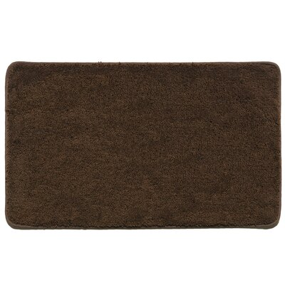 Kasten Plush Pile Solid Bathroom Bath Rug Color: Chocolate
