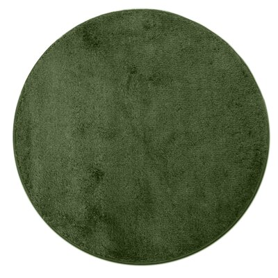 Kasten Plush Pile Bathroom Bath Rug Color: Olive