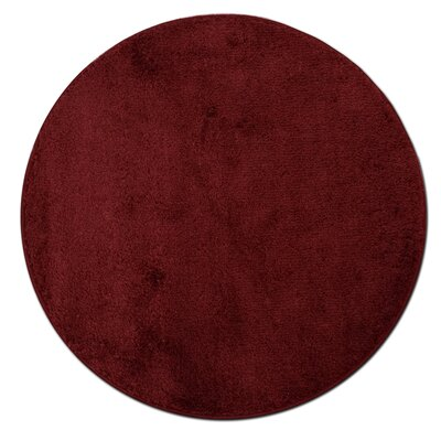 Kasten Plush Pile Bathroom Bath Rug Color: Burgundy
