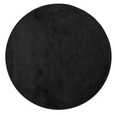 Kasten Plush Pile Bathroom Bath Rug Color: Black
