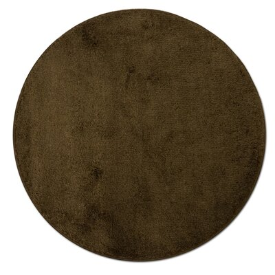 Kasten Plush Pile Bathroom Bath Rug Color: Chocolate