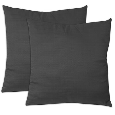 Forestburgh Solid Throw Pillow Color: Black