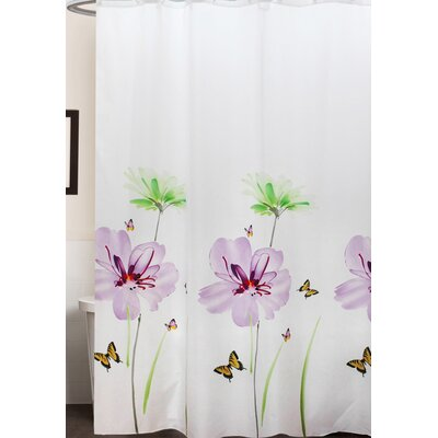 Kawamoto Lily Floral Print Shower Curtain