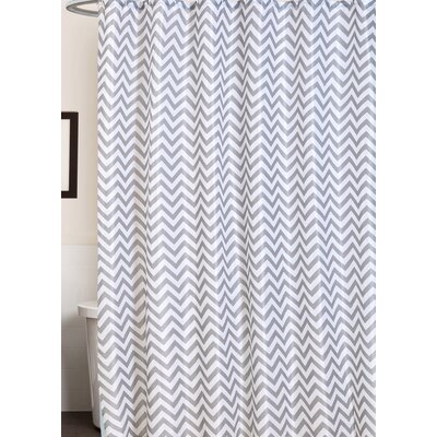 Caledonian Chevron Stripe Print Canvas Shower Curtain