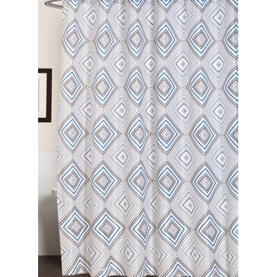 Buckhaven Geometric Print Canvas Shower Curtain