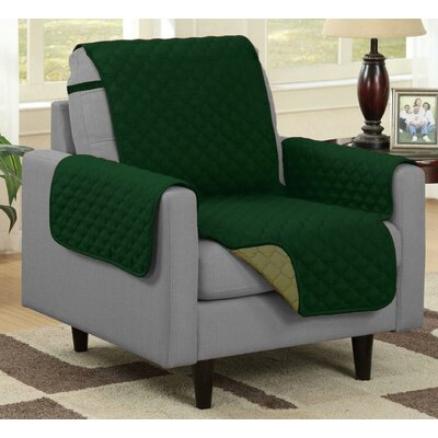 Box Cushion Armchair Slipcover Upholstery: Sage/Hunter