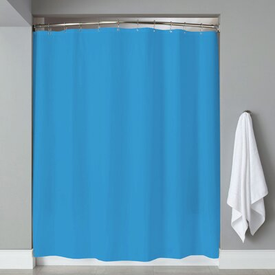 Grommets Magnets PVC Shower Curtain Color: Aqua