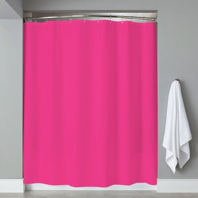Grommets Magnets PVC Shower Curtain Color: Fuchsia