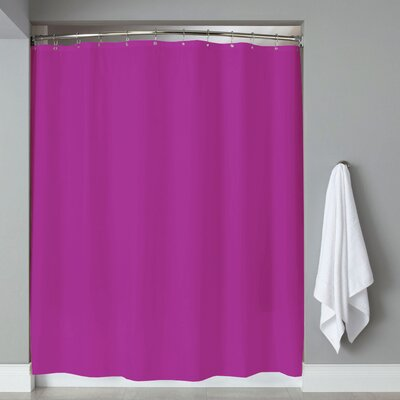 Grommets Magnets PVC Shower Curtain Color: Purple