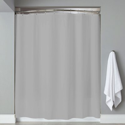 Grommets Magnets PVC Shower Curtain Color: Silver