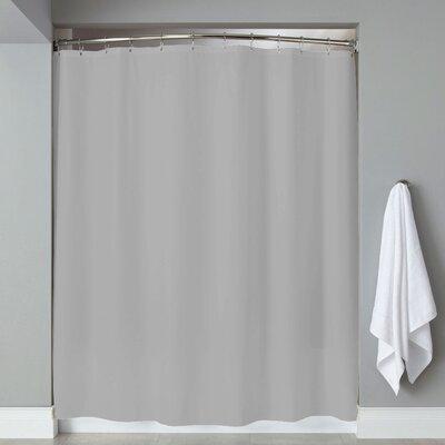 Grommets Magnets PVC Shower Curtain Color: Silver