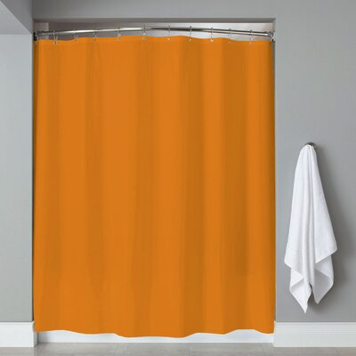 Grommets Magnets PVC Shower Curtain Color: Orange