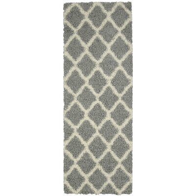 Dauphin Gray Indoor/Outdoor Area Rug Rug Size: Runner 27 x 8