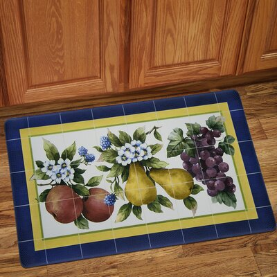 Tiled Fruit Anti-Fatigue Kitchen Mat