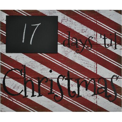 Days 'til Christmas with Chalk Board Wall Décor