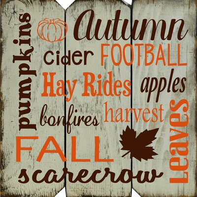 Autumn Football Subway Wall Décor