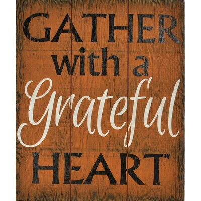 'Gather with a Grateful Heart' Wall Décor