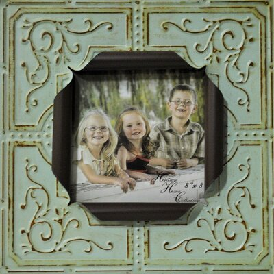Sarah Metal Picture Frame Color: Blue 59716
