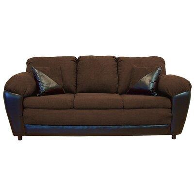 Brooklyn Sofa Upholstery: Bulldozer Java / San Marino Chocolate