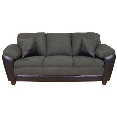 Brooklyn Sofa Upholstery: Bulldozer Graphite / San Marino Black