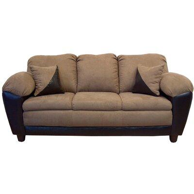 Piedmont Furniture Brooklyn Sofa - Color: Bulldozer Mocha / San Marino Chocolate