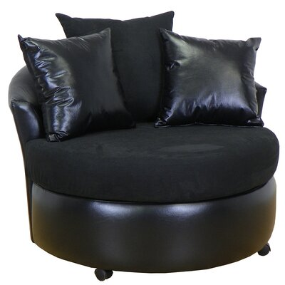 Ella Barrel Chair Upholstery: Bulldozer Black / San Marino Black