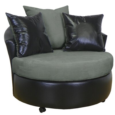 Ella Barrel Chair Upholstery: Bulldozer Graphite / San Marino Black