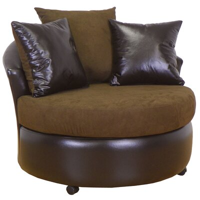 Ella Barrel Chair Upholstery: Bulldozer Java / San Marino Chocolate