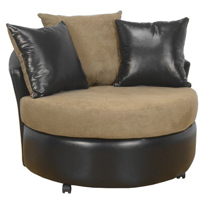 Ella Barrel Chair Upholstery: Bulldozer Mocha / San Marino Chocolate